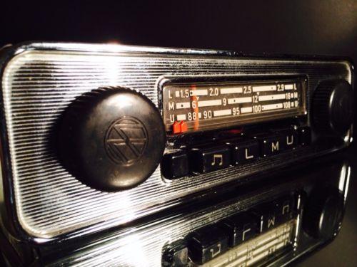 volkswagen vintage chrome classic car fm radio for vw bus. Black Bedroom Furniture Sets. Home Design Ideas